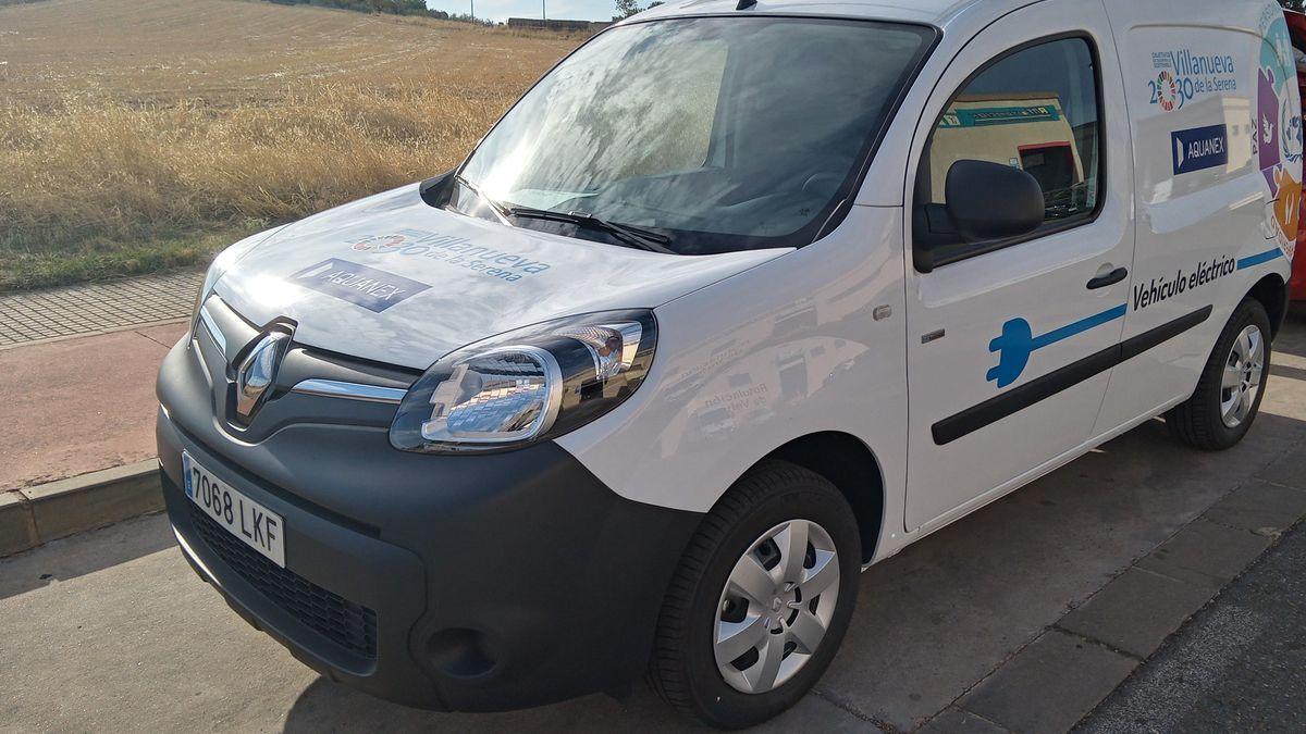 Vehículo eléctrico de Aquanex en Villanueva de la Serena.