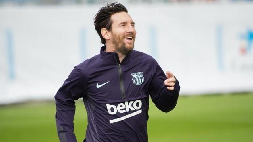 Messi vuelve a entrenar 11 días después de su lesión