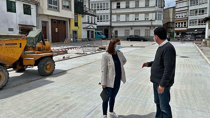 Betanzos encara la última fase de la mejora de la calle Marina y dos plazas de A Ribeira
