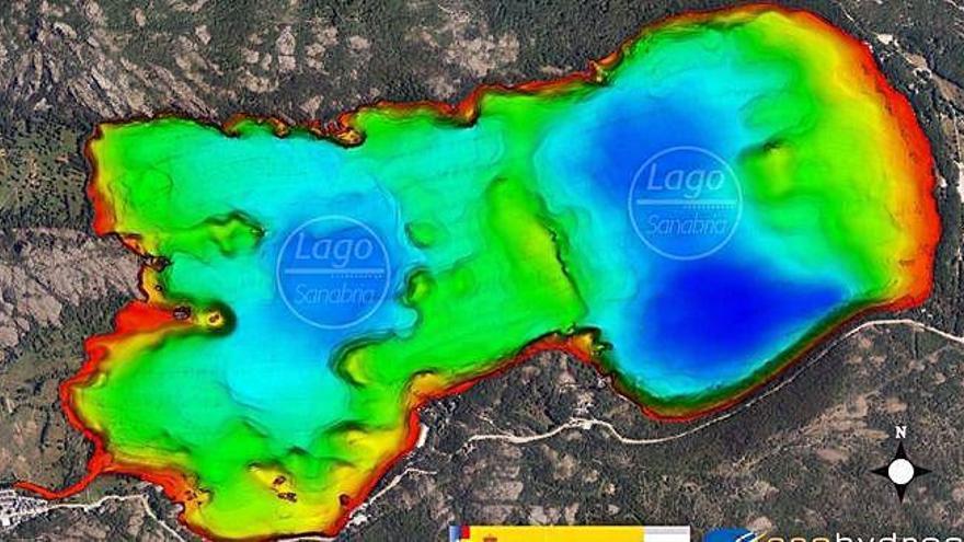 Nuevo modelo digital barimétrico de la profundidad del Lago de Sanabria.