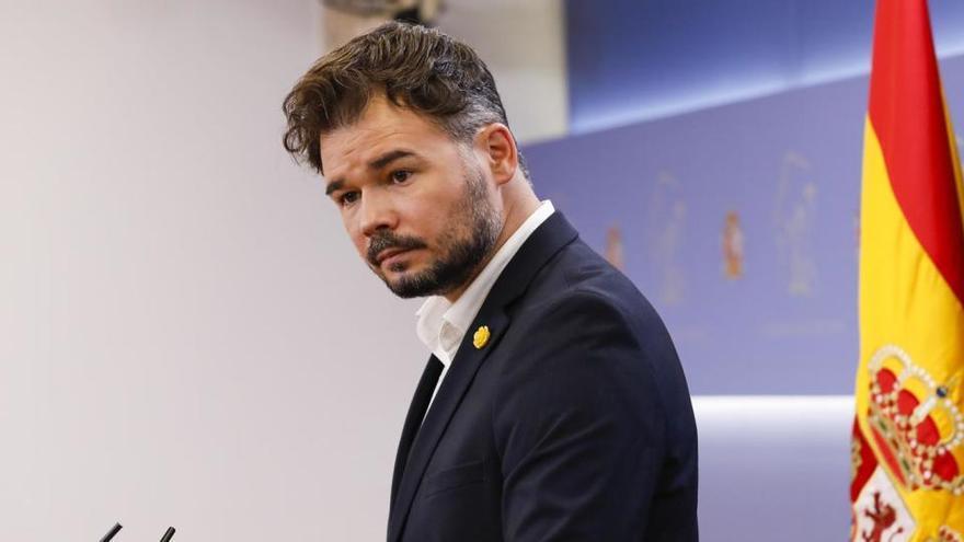 ERC apoyará los PGE si se levanta el control sobre las cuentas de la Generalitat
