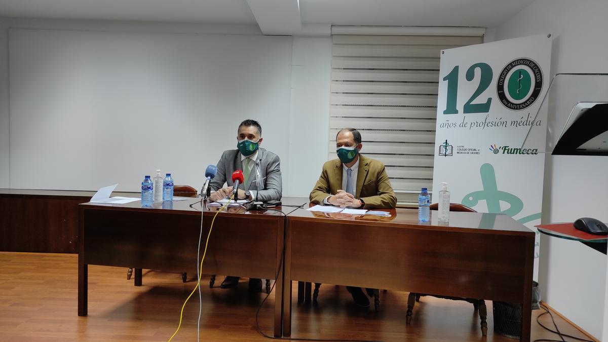 Luis Martín y Juan José Molina, en la presentación de la asociación.