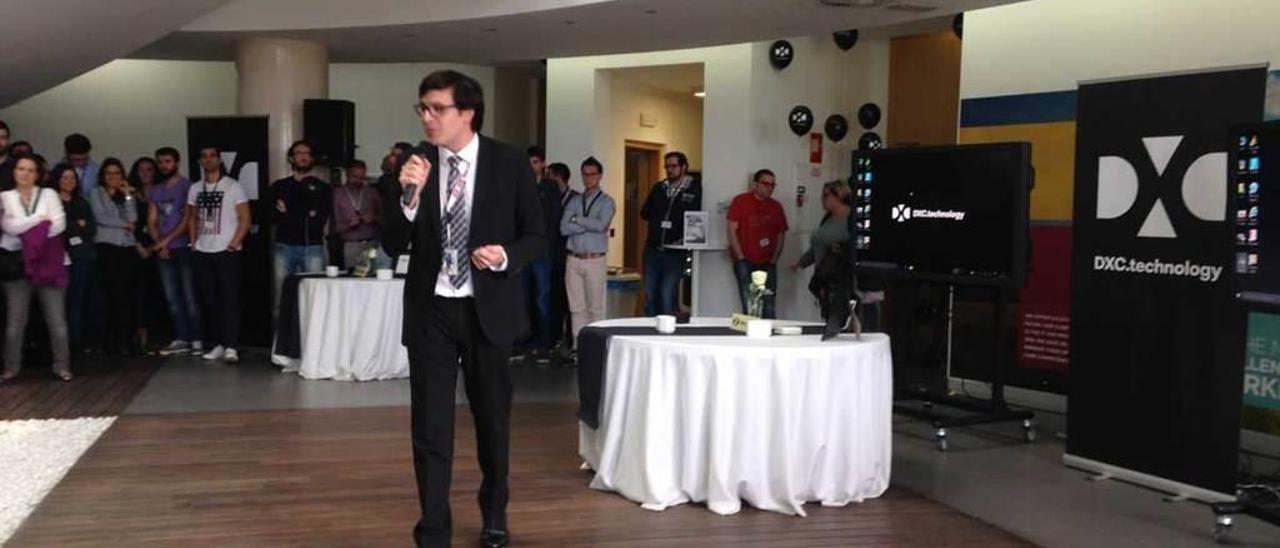 Jesús Daniel Salas, director general de CSC en España, el lunes en la celebración de la puesta en marcha de DXC Technology en el centro de servicios avanzados de Avilés.