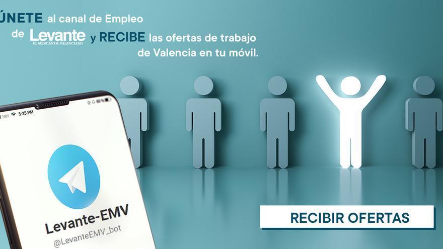 Levante-EMV lanza un canal de Telegram para recibir las ofertas de empleo en tu móvil