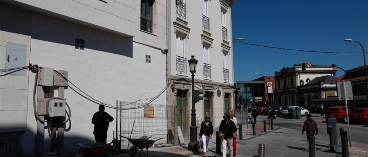 Una promoción de vivienda nueva en la calle d ela Estación de Avilés.