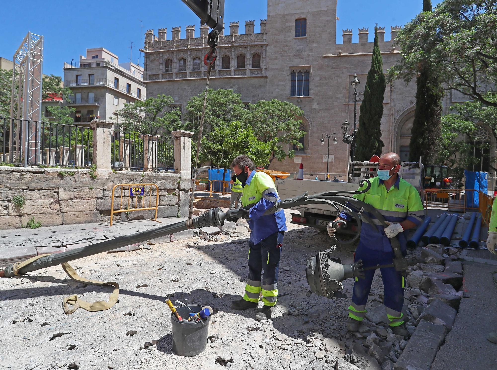 Así avanzan las Obras de la Plaza de Brujas
