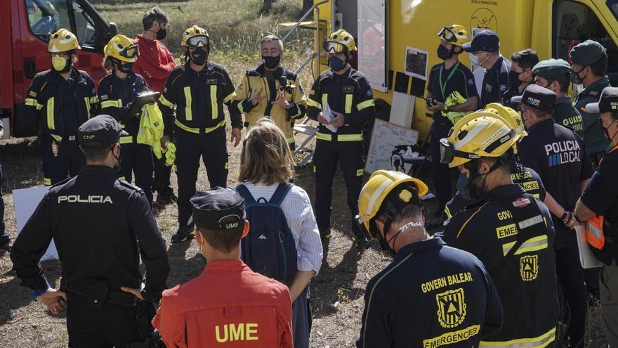 Emergencias y la UME ponen a prueba el protocolo ante incendios forestales en las islas