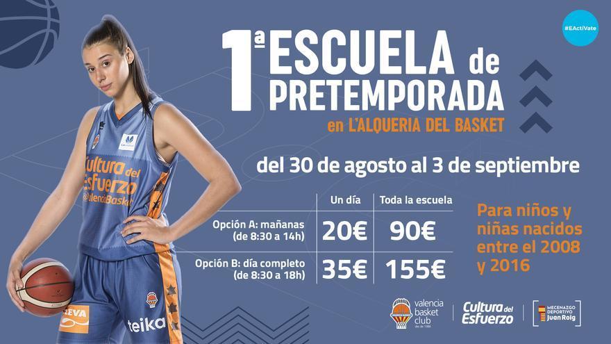 El Valencia Basket lanza la I Escuela de Pretemporada en L'Alqueria del Basket