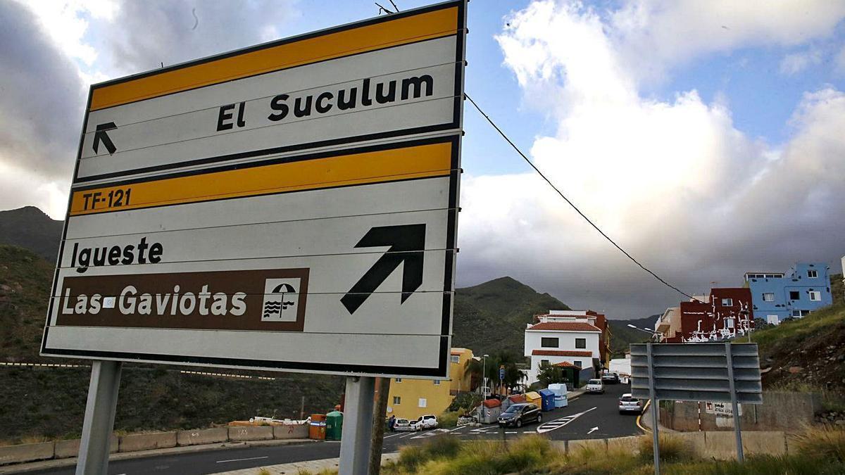 Foto de archivo del barrio El Suculum, que se encuentra junto al Valle de Las Huertas.