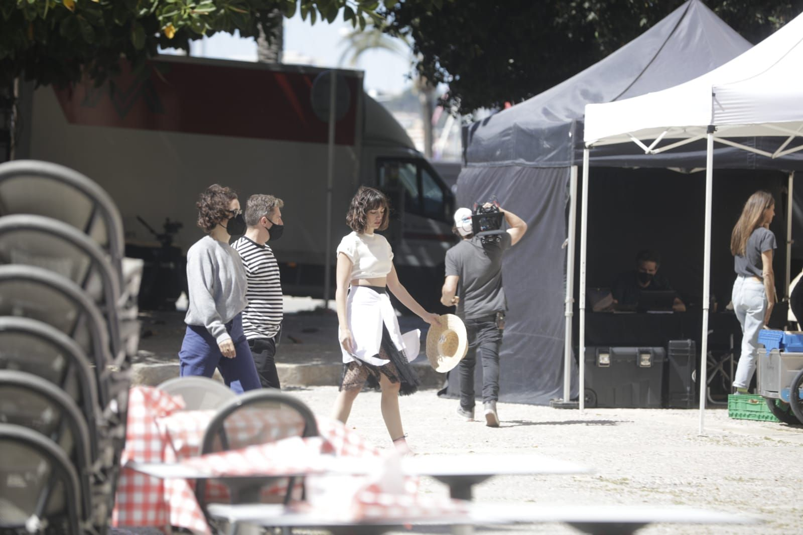 Ana de Armas rueda en La Lonja de Palma