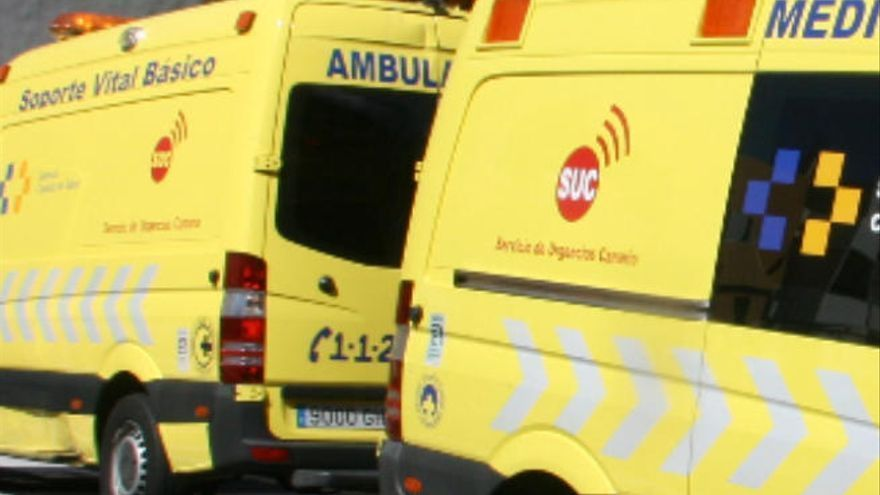 Herido un motorista tras una caída en San Miguel de Abona