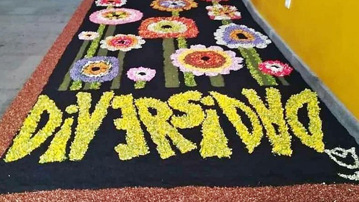 La alfombra  del IES Orotava | EL DÍA