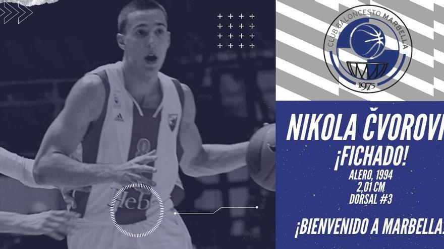 El CB Marbella confirma el fichaje de Nikola Cvorovic