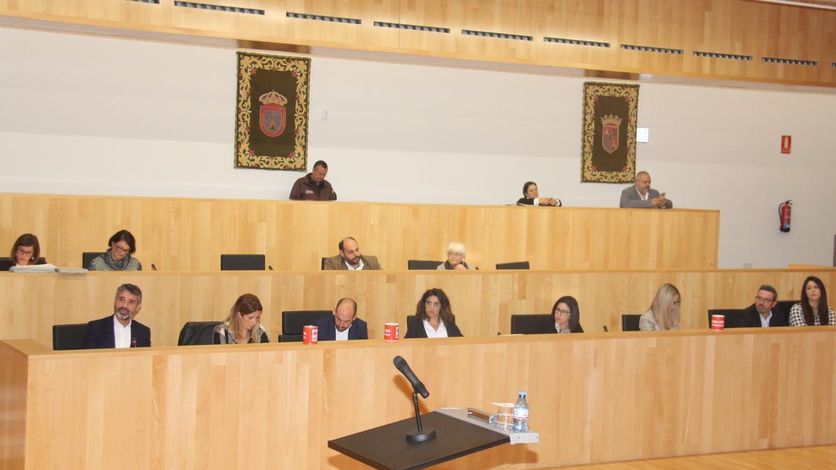 Los diputados de PSOE y Adelante en un pleno provincial.