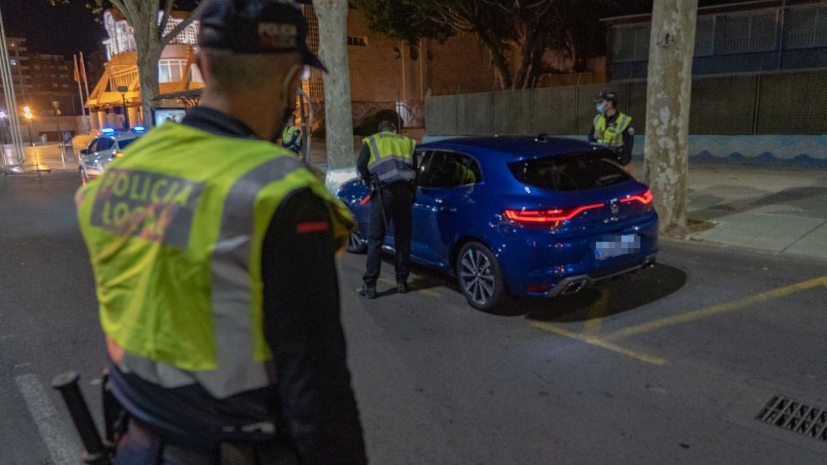 Control de la Policía Local de Cartagena