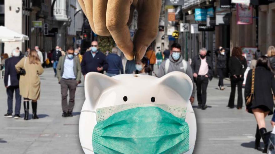 El ahorro acumulado en Galicia por la pandemia supera ya los 7.200 millones
