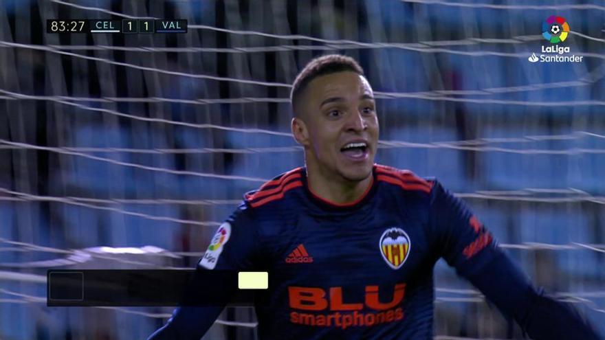 El Valencia remonta ante un Celta hundido sin su estrella
