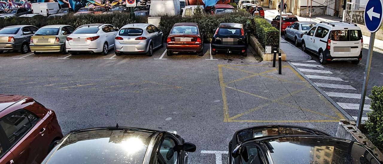 Aparcamiento donde se prevé poner en marcha el sistema de estacionamiento regulado.