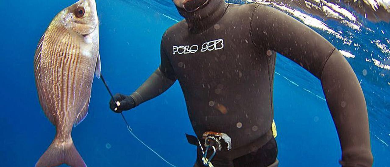 Imagen de archivo de una prueba de pesca submarina.