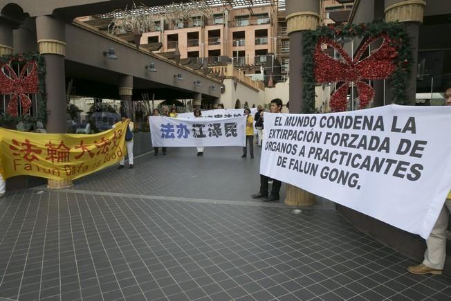 Manifestación por la visita de Xi Jinping