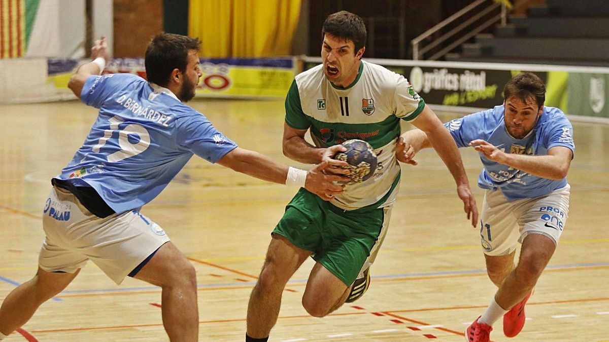 David Masó, en un partit contra l'Eivissa al Blanc-i-Verd