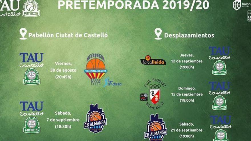 El Valencia Basket, de nuevo el rival estrella en la pretemporada del TAU Castelló