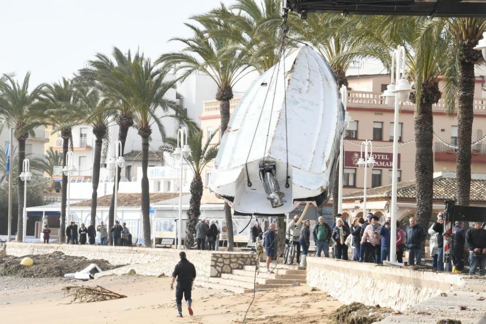 """""""Gloria"""" ha arrasado con el litoral del norte de Alicante"""