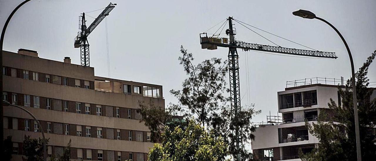 Varias de las promociones en construcción en la ciudad de Alicante.