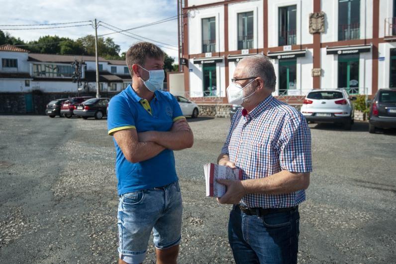 Portela, ayer, con López Soto.   | // CASTELEIRO/ ROLLER AGENCIA