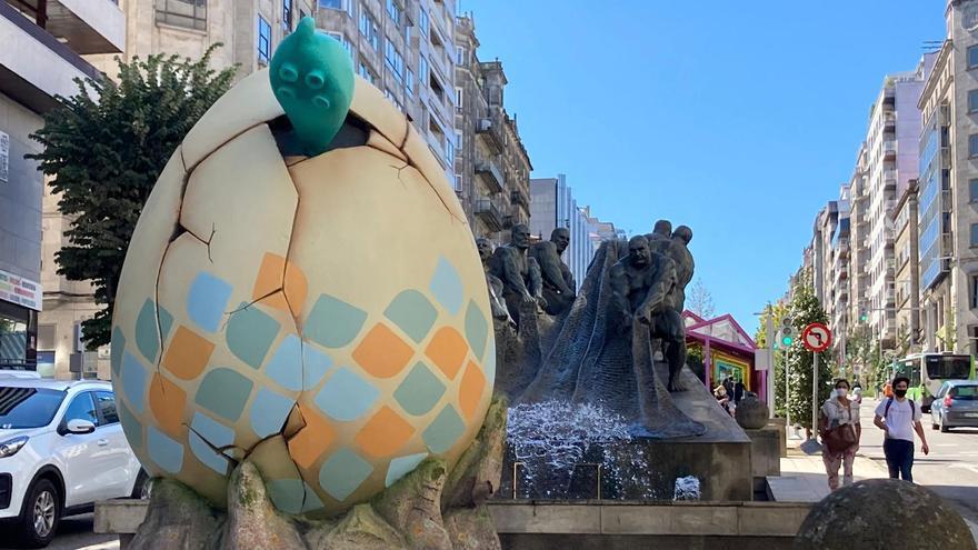 Misterio resuelto en Vigo: rompe el cascarón del huevo de Vialia