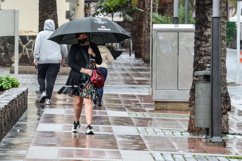 Lluvia en Las Palmas de Gran Canaria (04/02/2021)
