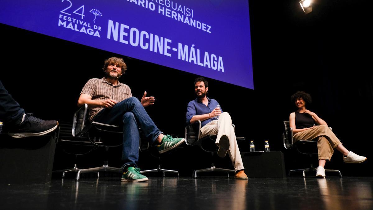 El actor Salva Reina durante la presentación de su nueva aventura cinematográfica