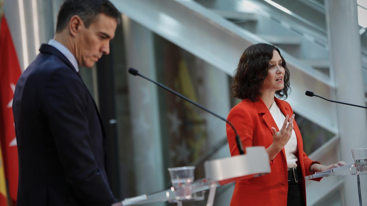Isabel Díaz Ayuso y Pedro Sánchez, en una foto de archivo.
