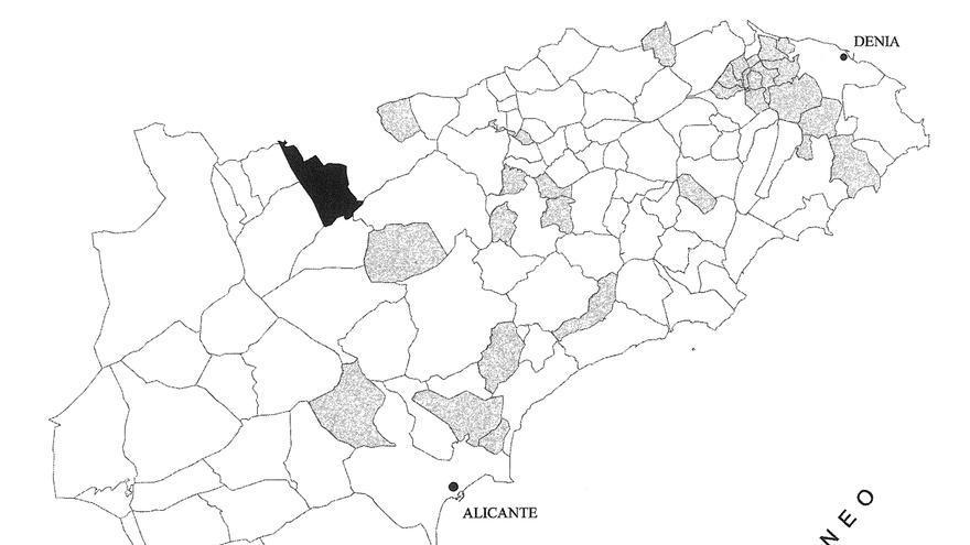 Fuero alfonsino y mapa municipal alicantino