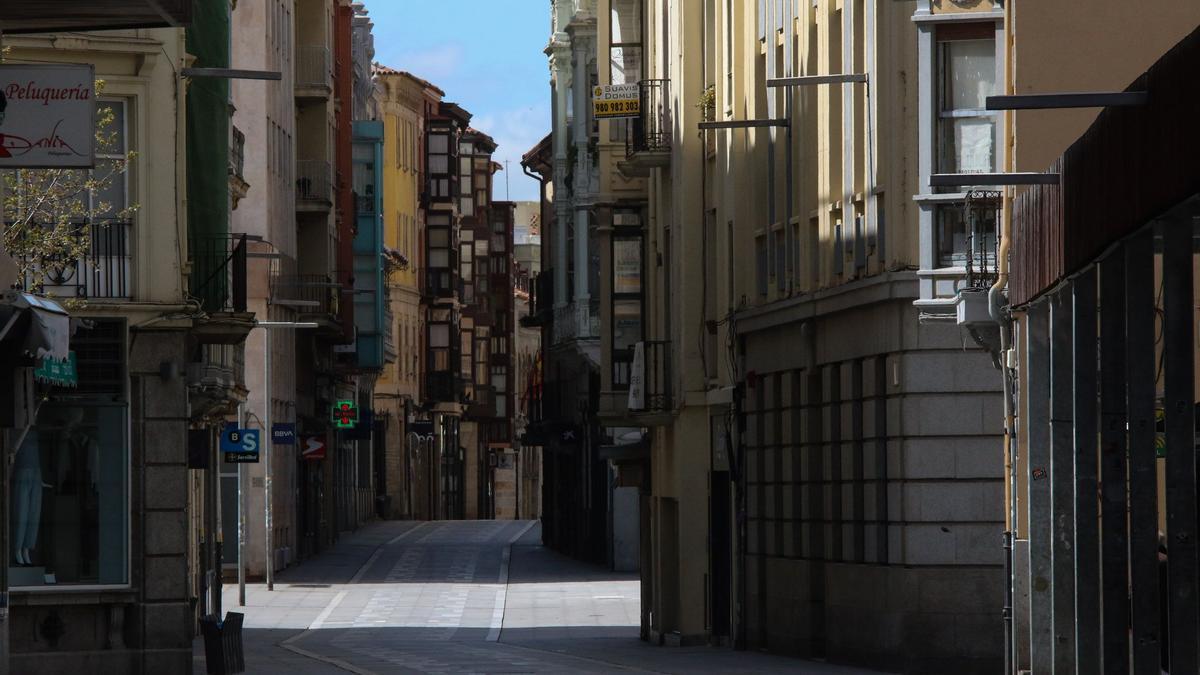 Calles vacías en Zamora durante el estado de alarma.