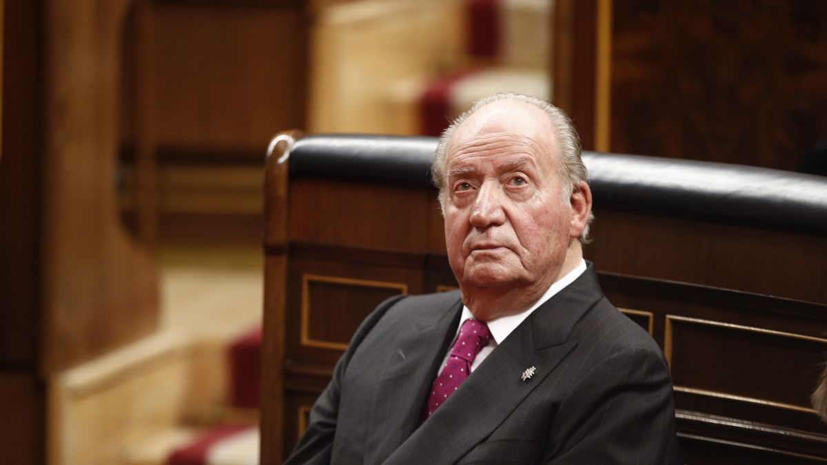 El rey emérito, en el acto por el 40º aniversario de la Constitución.