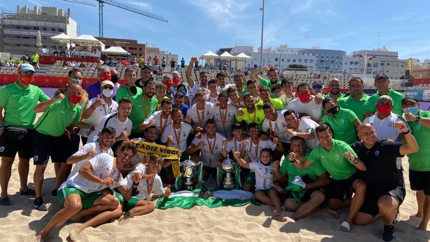 Sello cordobés en el doblete nacional de las selecciones andaluzas de fútbol playa