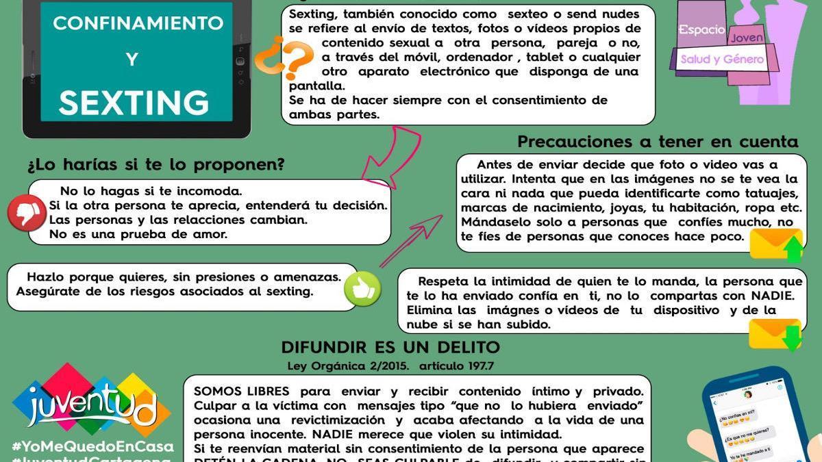 Cartagena pone en marcha la campaña 'Confinamiento y Sexting'