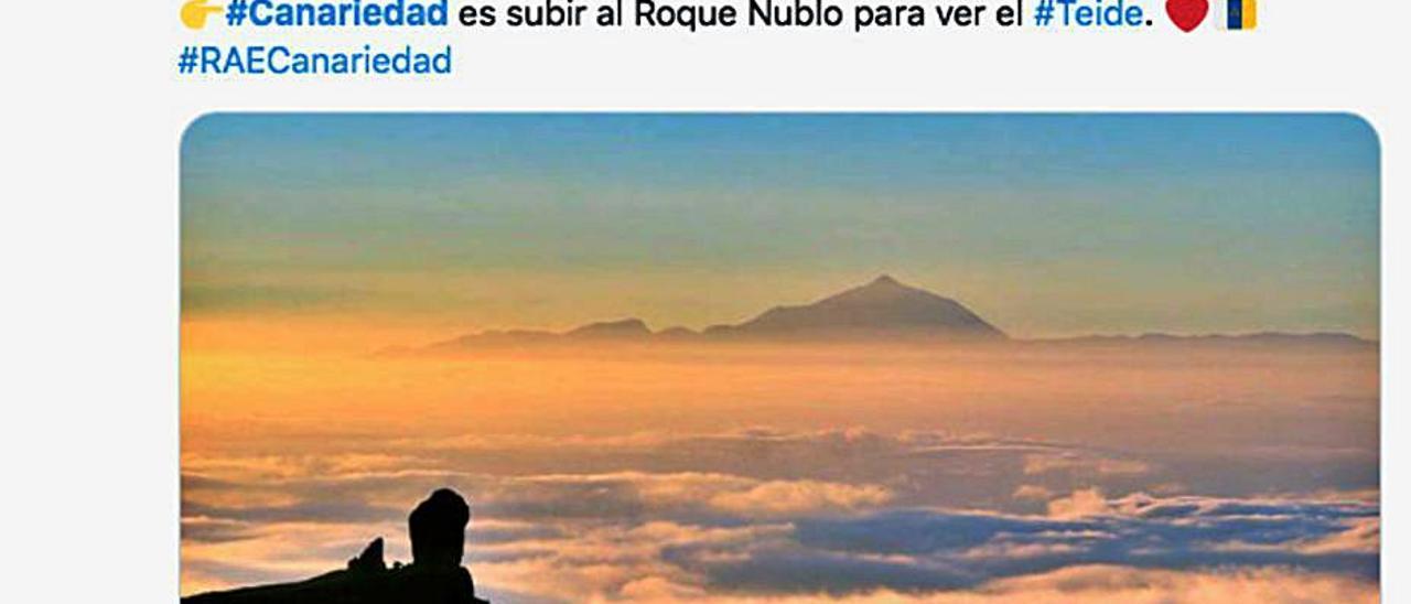 Tuit de Elaborado en Canarias.