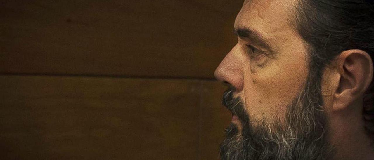 Miguel López, en una imagen tomada durante una de las sesiones del juicio.