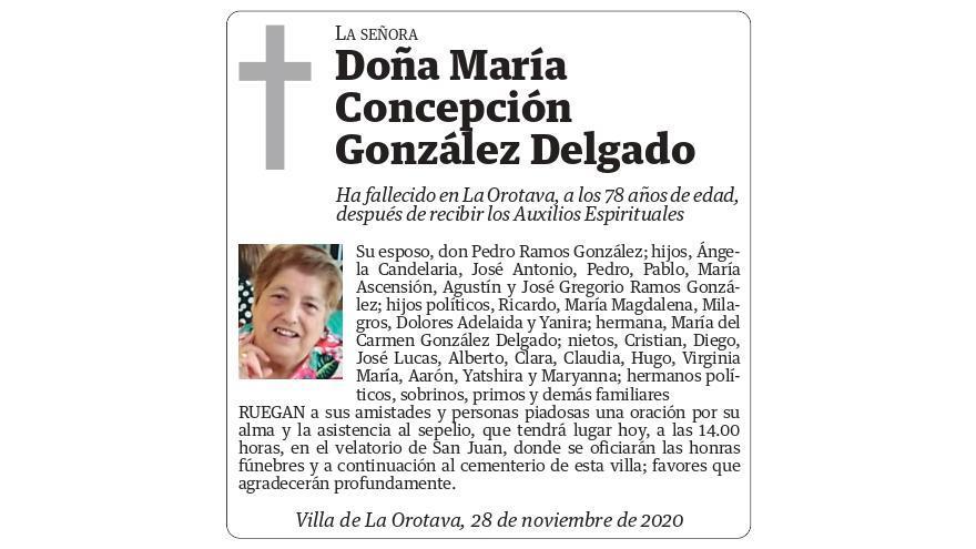 María Concepción González Delgado