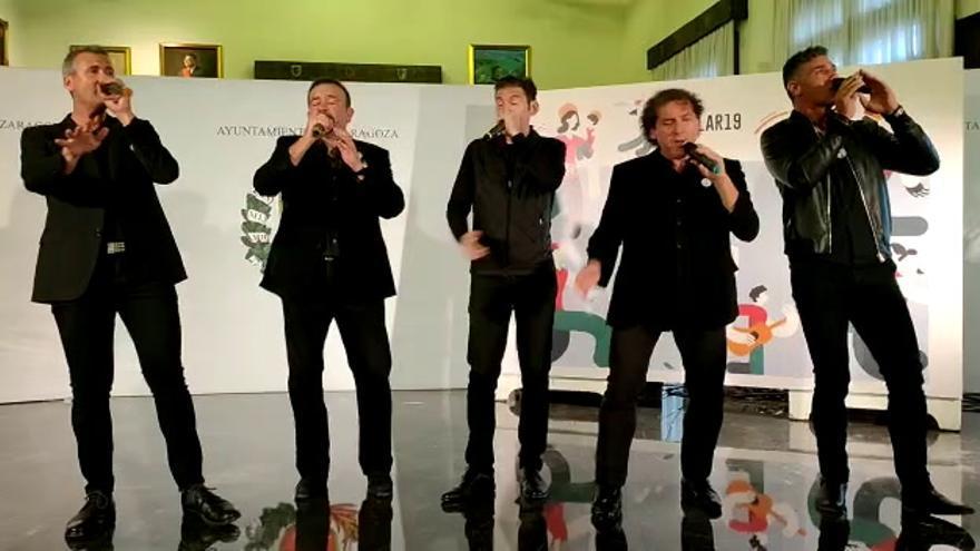 B Vocal en la presentación del programa de Fiestas del Pilar 2019