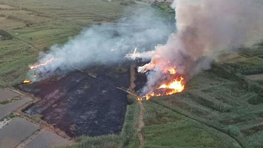 Arden dos hectáreas en s'Albufera