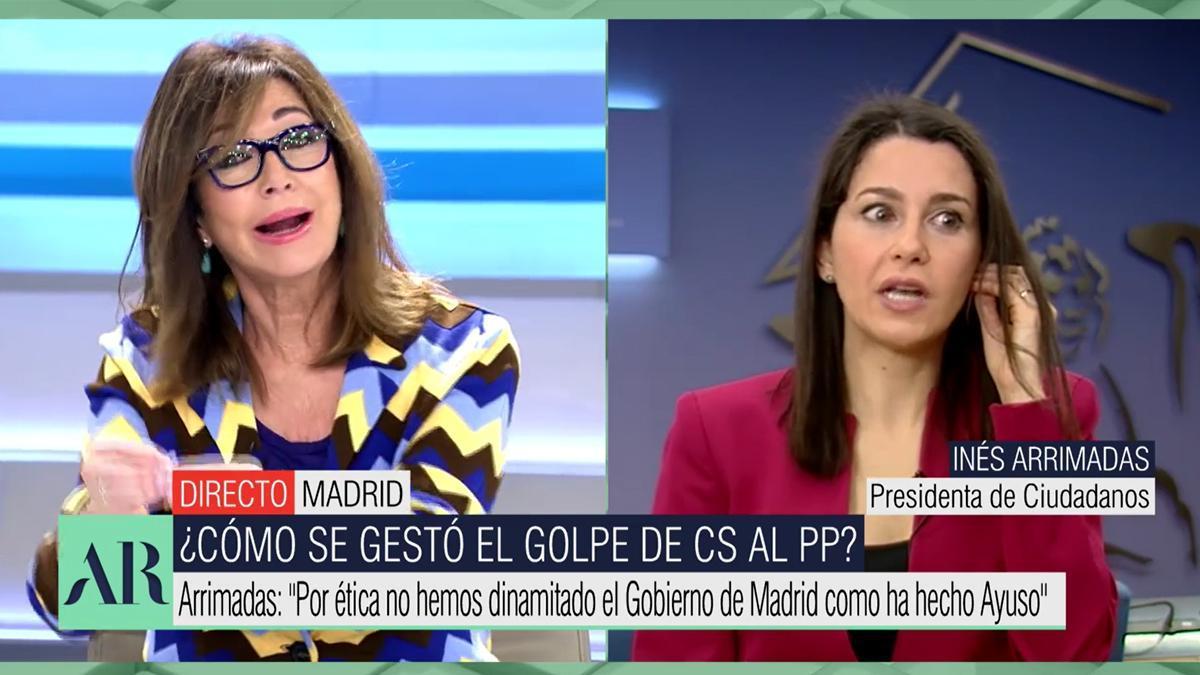 Ana Rosa Quintana e Inés Arrimadas.