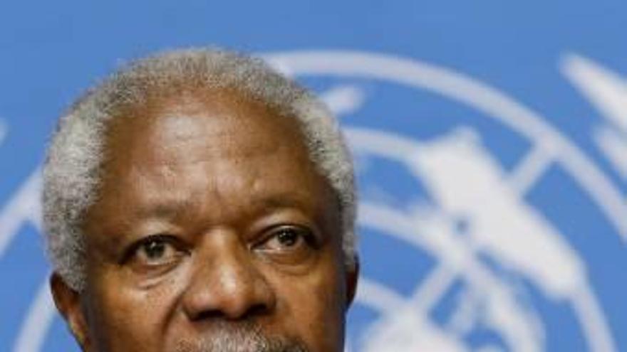 Mor l'ex-secretari general de l'ONU   i premi Nobel de la pau Kofi Annan