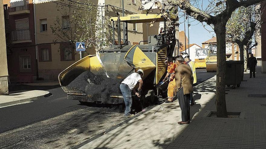 Benavente pavimentará diez calles en la zona norte