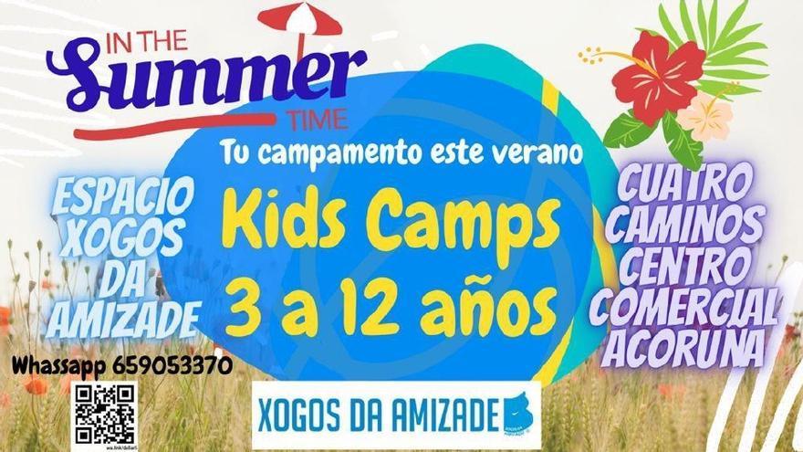 Llegan los Kid Camps de Xogos da Amizade para sacar el máximo partido al verano