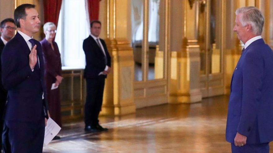 De Croo jura como nuevo primer ministro de Bélgica