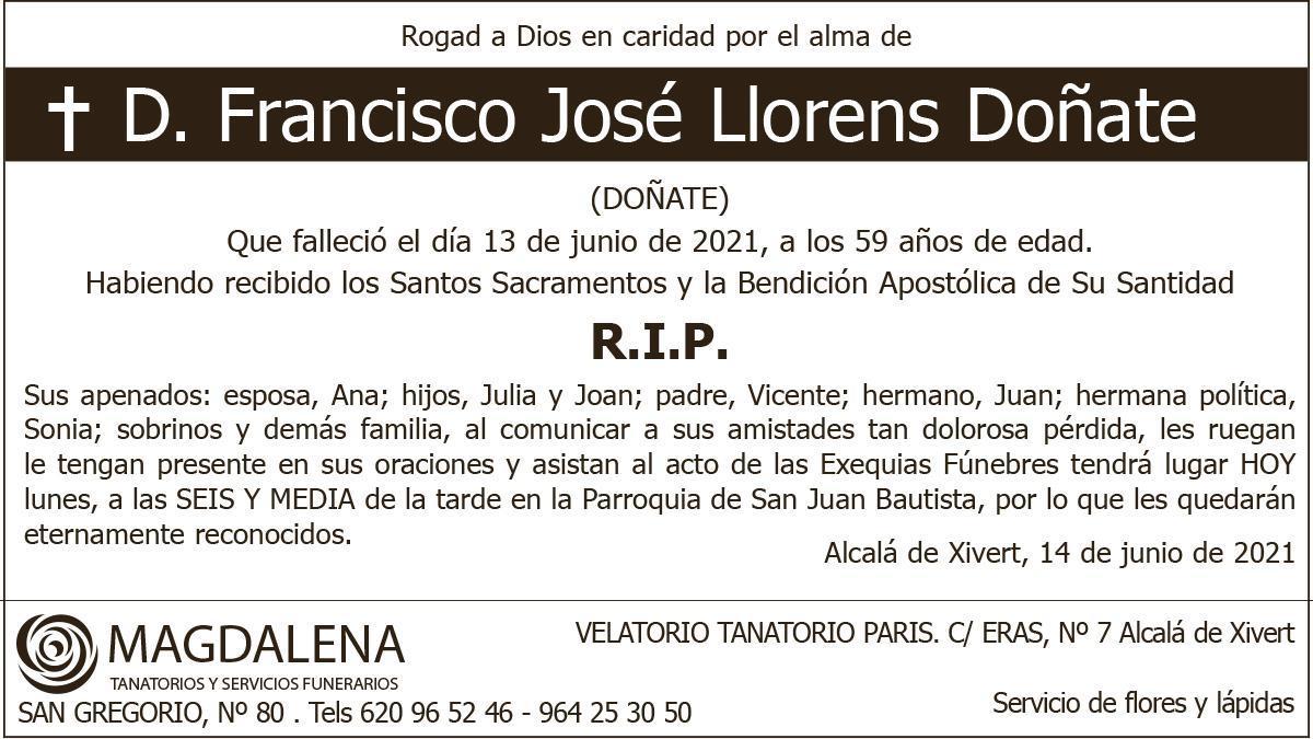 D. Francisco José Llorens Doñate