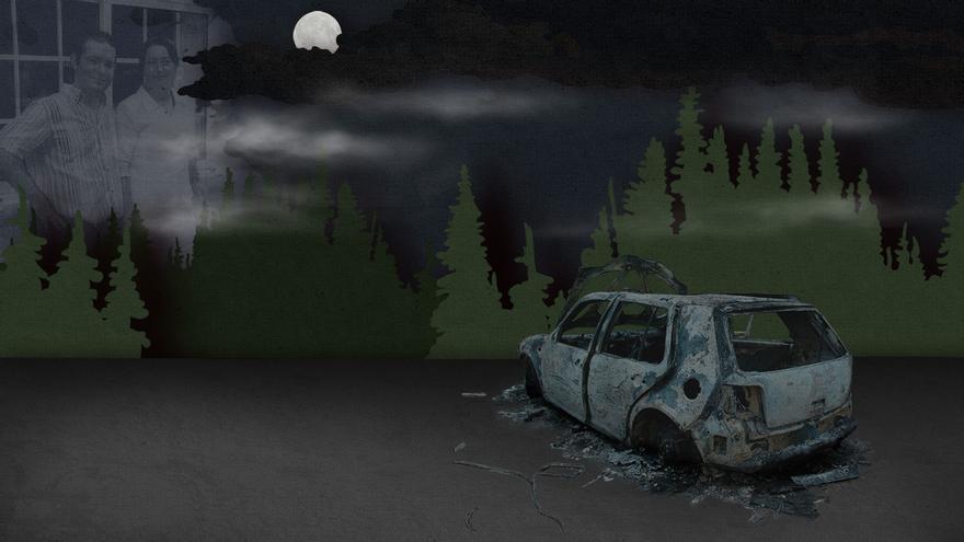 Pareja desaparecida en Cabral: el enigma del coche tiroteado y calcinado
